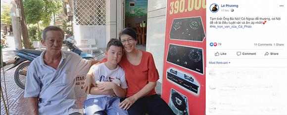 Lê Phương đưa con trai riêng về nhà ông bà nội nghỉ hè 1