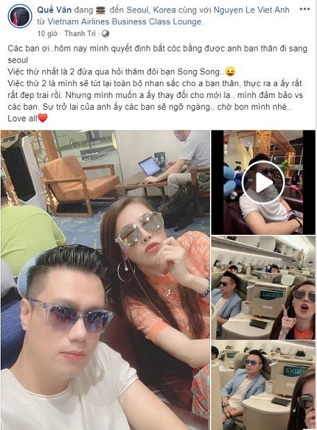 Hậu ly hôn, Việt Anh quyết định sang Hàn Quốc cùng Quế Vân 'tút tát' dung nhan  1