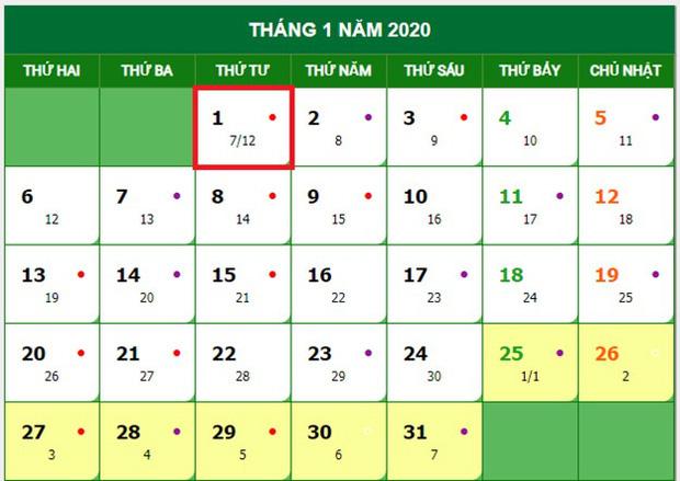 Lịch nghỉ Tết Nguyên đán Canh Tý và nghỉ Tết Dương lịch 2020 chính thức  1