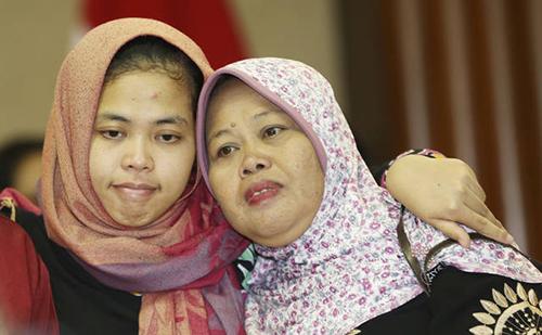Tổng thống Indonesia đón cô gái được trả tự do trong nghi án Kim Jong-nam 1