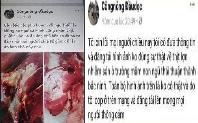 Thanh niên tung tin sai sự thật vụ lợn nhiễm sán ở trường mầm non bị triệu tập 1