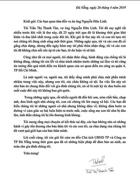 Vụ sàm sỡ bé gái trong thang máy: Vợ ông Nguyễn Hữu Linh bất ngờ rút đơn tố cáo  1