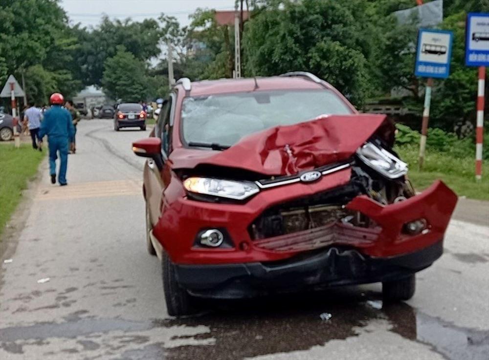 Thiếu úy công an lái xe đâm chết người ở Thanh Hóa bị tạm định chỉ công tác 1