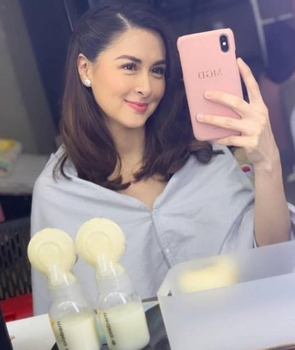'Mỹ nhân đẹp nhất Philippines' bất ngờ lộ thân hình kém thon sau sinh con 1