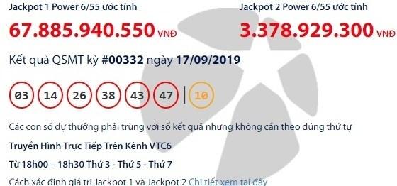 Xổ số Vietlott: Đại gia nào được giải Jackpot gần 68 tỷ đồng 'gọi tên'? 1