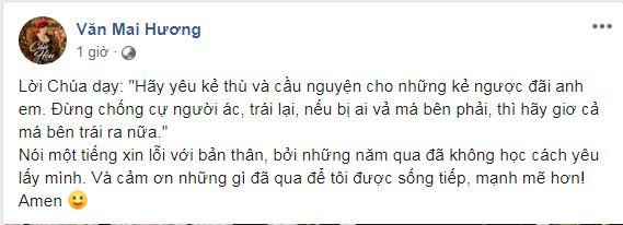Văn Mai Hương xuất hiện với lời chia sẻ ẩn ý sau hơn 1 tuần lộ clip nhạy cảm tại nhà riêng 2