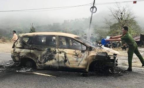 Thông tin mới nhất vụ 2 người tử vong trong ôtô bốc cháy ở Quảng Nam 1