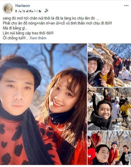 Trấn Thành la làng kêu mệt khi bị Hari Won bắt đi leo núi ở quê ngoại 1