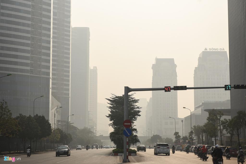 Trong 2 tháng đầu năm, 50% số ngày không khí Hà Nội ở mức kém 1