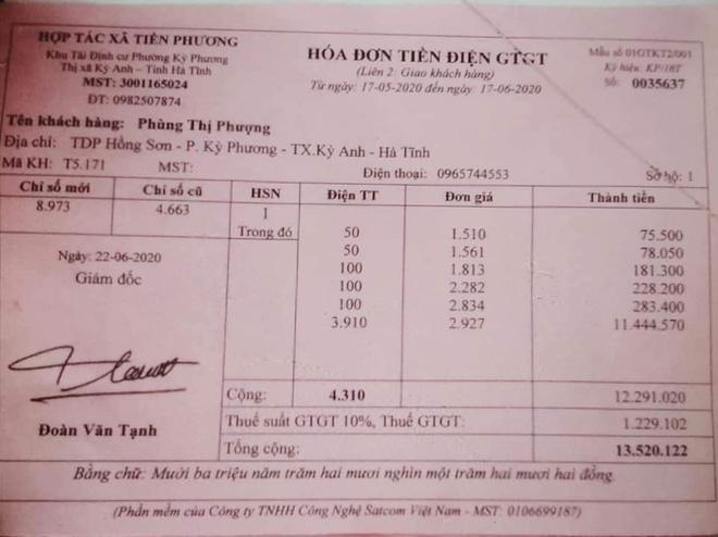 Người phụ nữ ở Hà Tĩnh hoảng hốt khi tiền điện tăng gấp 190 lần 1