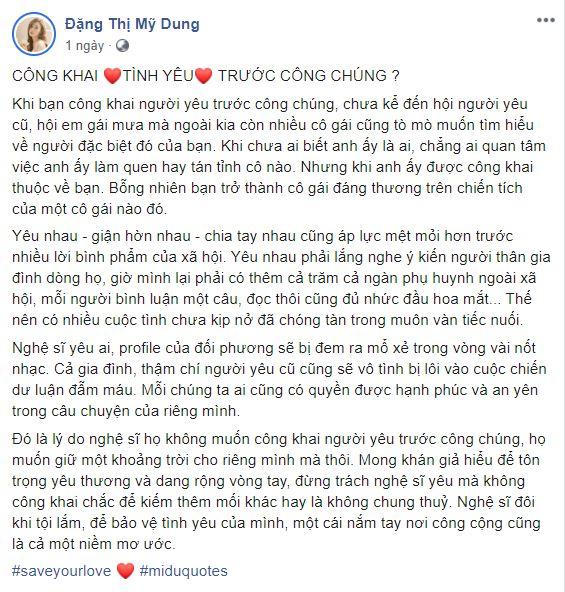 Midu chia sẻ đầy ẩn ý giữa lùm xùm Hương Giang và bạn trai đại gia 2