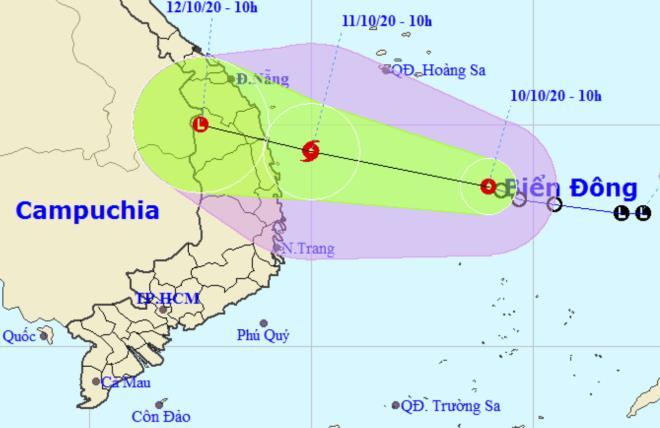 Áp thấp nhiệt đới có khả năng mạnh lên thành bão, đổ bộ vào Quảng Nam - Phú Yên 2 ngày tới 1