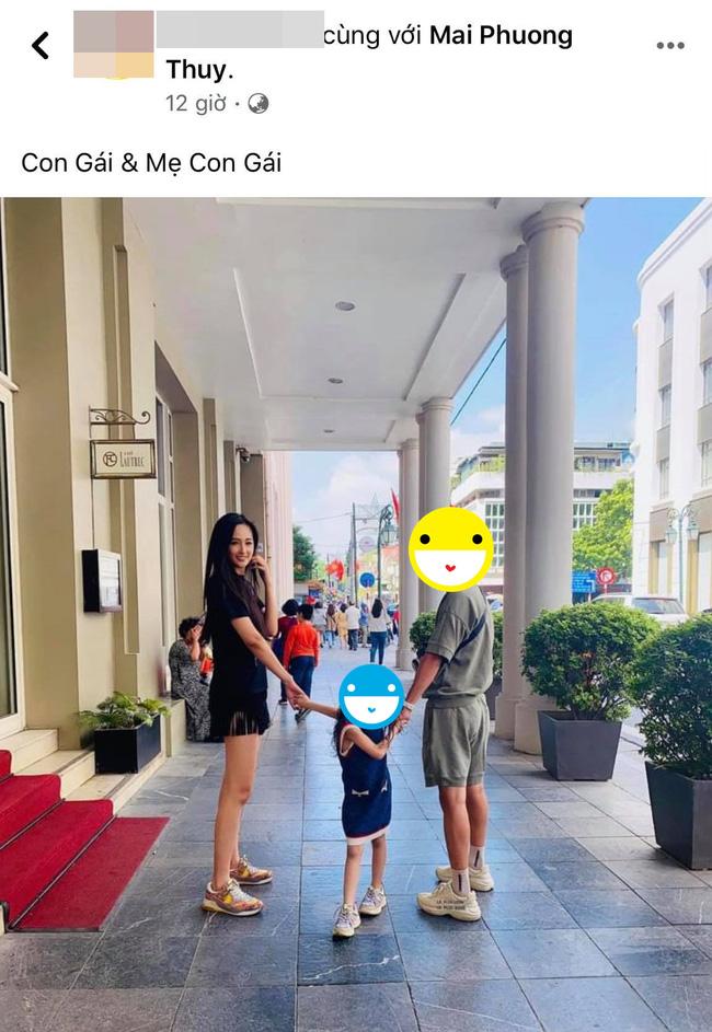 Mai Phương Thúy lộ ảnh dắt tay bé gái cùng 'trai lạ' khiến dân tình hoang mang 1