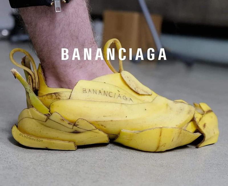Cận cảnh đôi giày Balenciaga bằng vỏ chuối gây bão MXH 1