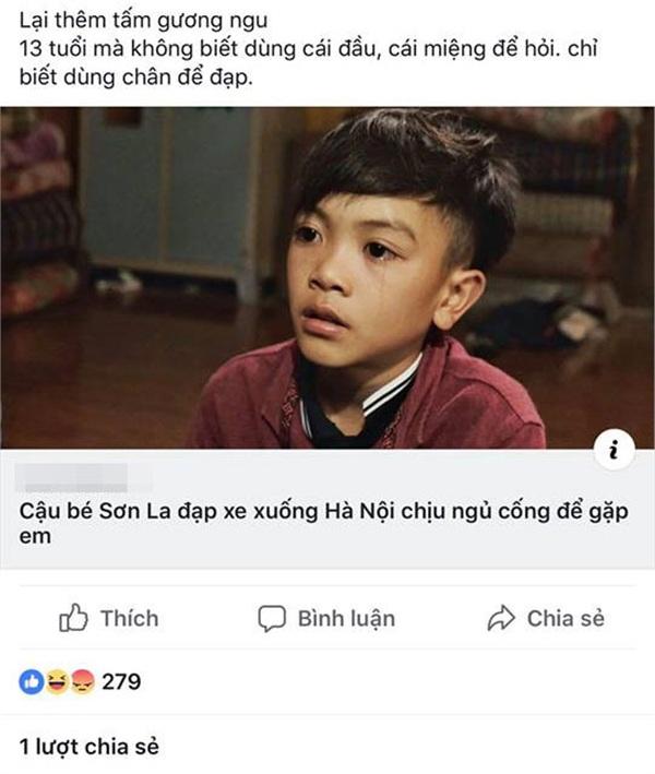 Thanh niên hứng trọn 'gạch đá' vì 'khẩu nghiệp' với bé trai đạp xe từ Sơn La xuống Hà Nội 2