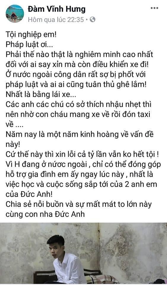 Đàm Vĩnh Hưng bất ngờ đăng tải trạng thái gây 'sốc' 1