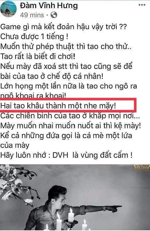 Tùng Dương mắng Đàm Vĩnh Hưng là 'mất dạy, vô văn hóa', kêu gọi CĐM tẩy chay 3