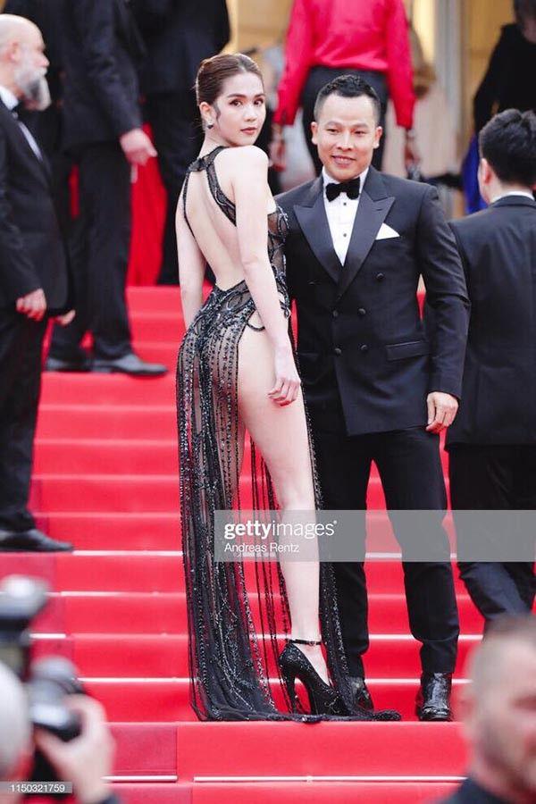 Ngọc Trinh bị chê tơi tả sau khi xuất hiện tại thảm đỏ Cannes 1