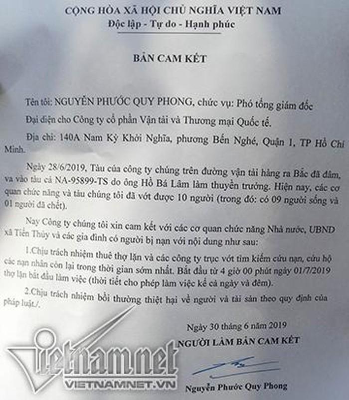 Chủ tàu hàng nói gì sau vụ đâm chìm tàu cá ngư dân trên đảo Bạch Long Vỹ 1