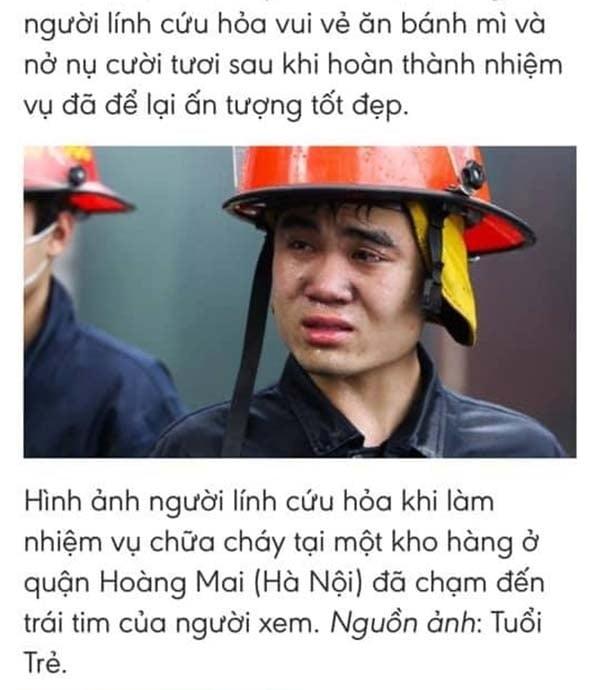 Sự thật bất ngờ phía sau bức ảnh anh lính cứu hỏa rơi nước mắt 'gây bão' MXH 3