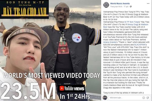 Sơn Tùng M-TP phá kỷ lục 1 triệu Sub của bà Tân Vlog 2