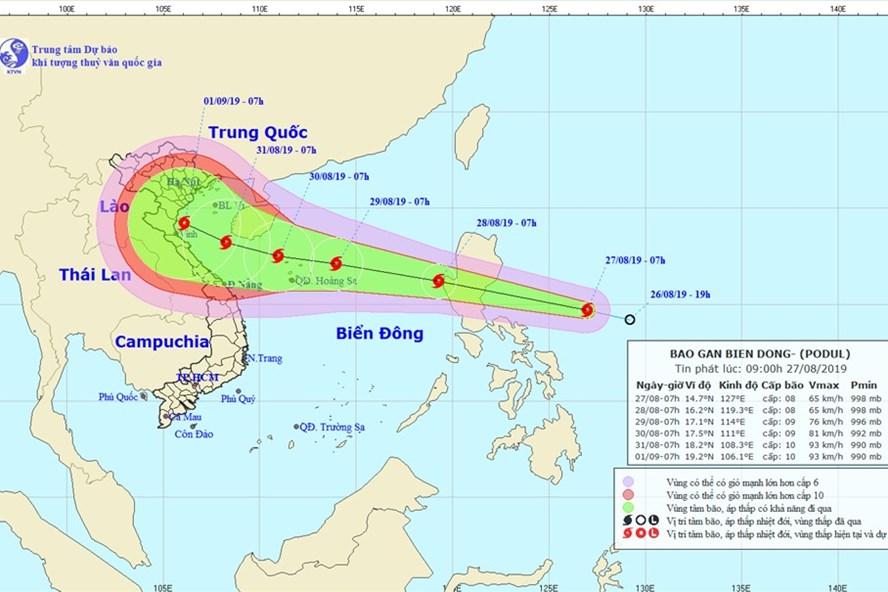 Sẵn sàng các phương tiện ứng phó với diễn biến phức tạp của bão Podul 1