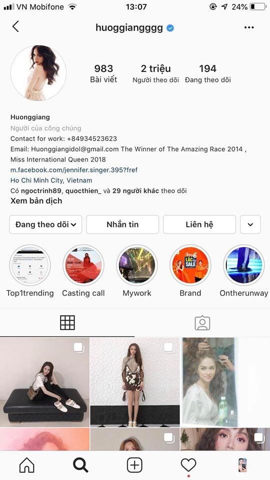 Facebook của Hương Giang hút triệu lượt theo dõi 2