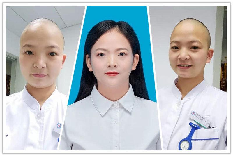 Một loạt y tá Trung Quốc cạo trọc đầu để tránh lây nhiễm virus corona 2