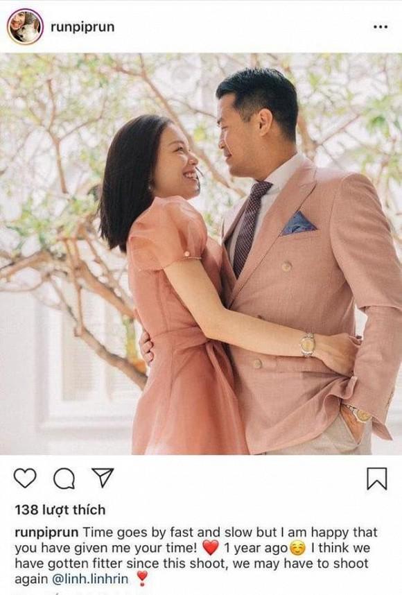 Em chồng Tăng Thanh Hà khoe ảnh tình tứ với bạn gái sau 1 năm hò hẹn 1