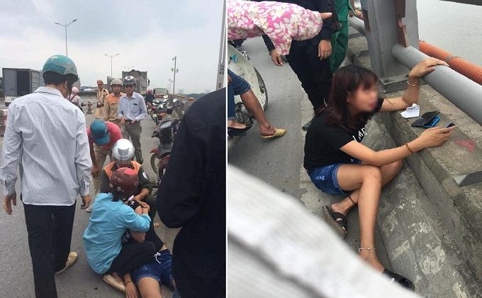 Cô gái ngất lịm khi bạn trai nhảy xuống sông Hồng tự tử sau màn cãi nhau 2