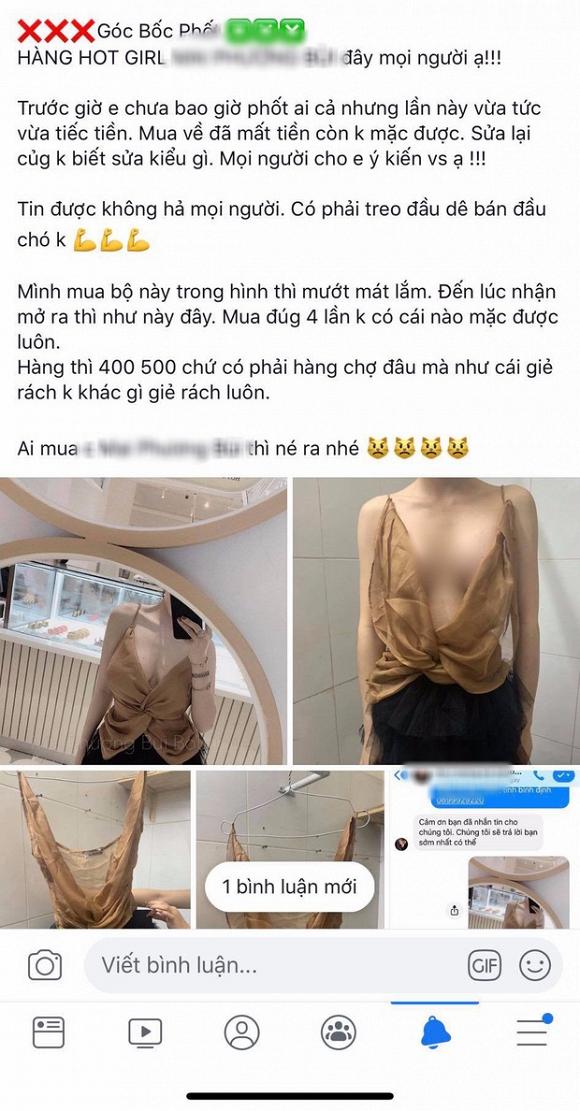 Vụ 'bóc phốt' hot girl Hà thành bán áo như rẻ lau: Dân mạng phản ứng bất ngờ 1