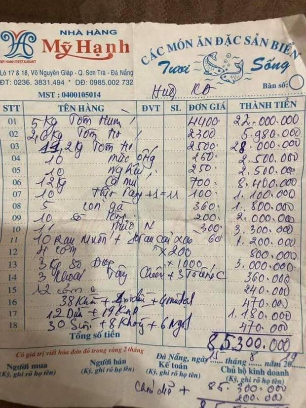Khách than trời vì hoá đơn ăn hải sản 85 triệu đồng: Nhà hàng nói gì? 1