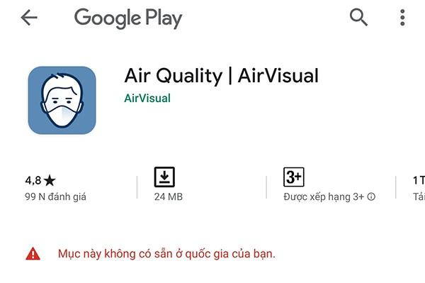"""Ứng dụng AirVisual đột nhiên """"biến mất"""", chuyên gia nói """"số liệu AQI không đáng tin"""" 1"""