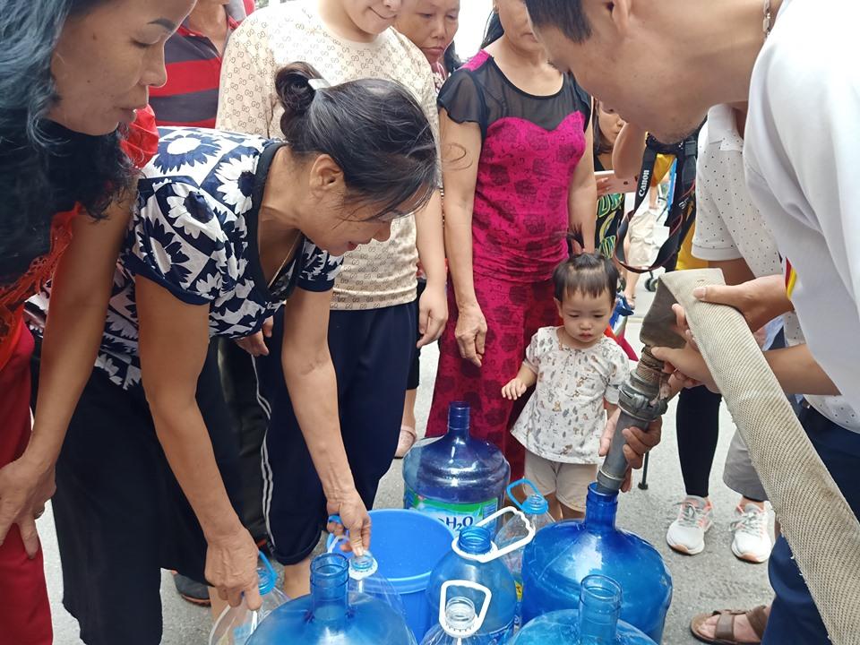 Công ty Sông Đà đã cấp nước trở lại, người dân có nước sạch dùng trong hôm nay? 1