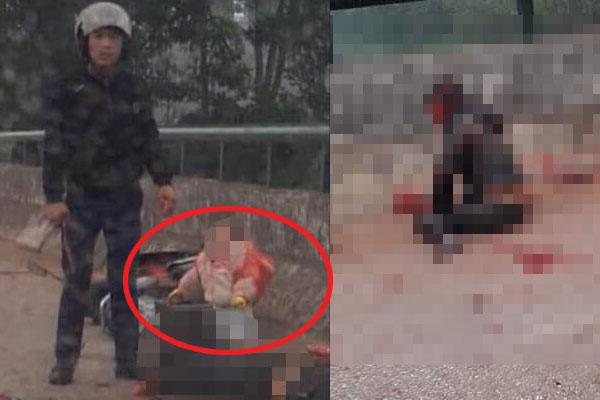 Nghi phạm chém người mẹ trẻ trước mặt con nhỏ trên cầu ra đầu thú 1