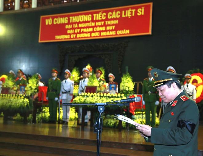 Bộ Công an tổ chức Lễ tang 3 liệt sĩ công an hy sinh tại xã Đồng Tâm 4