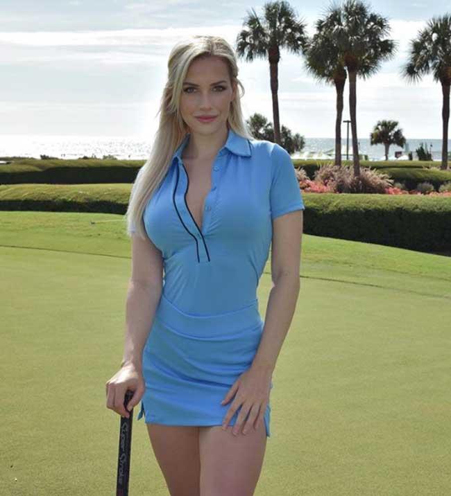 Diện trang phục quá gợi cảm khi thi đấu, nữ golf thủ bị dọa giết  2