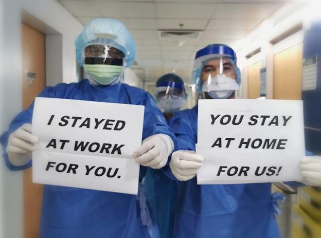 Dịch Covid-19: Lan toả thông điệp 'Chúng tôi đi làm vì bạn, hãy ở nhà vì chúng tôi' 5