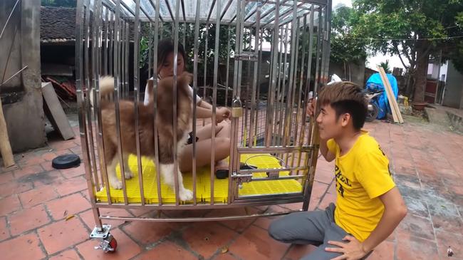 Hưng Vlog lại nhận 'rổ gạch đá' khi nhốt em gái trong chuồng chó 2