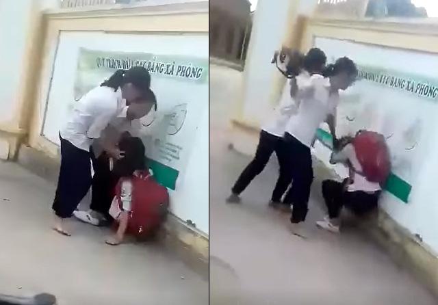 Nhìn 'ngứa mắt', nữ sinh lớp 8 ở Hà Nội bị bạn chặn đường đánh chấn thương cột sống cổ 3