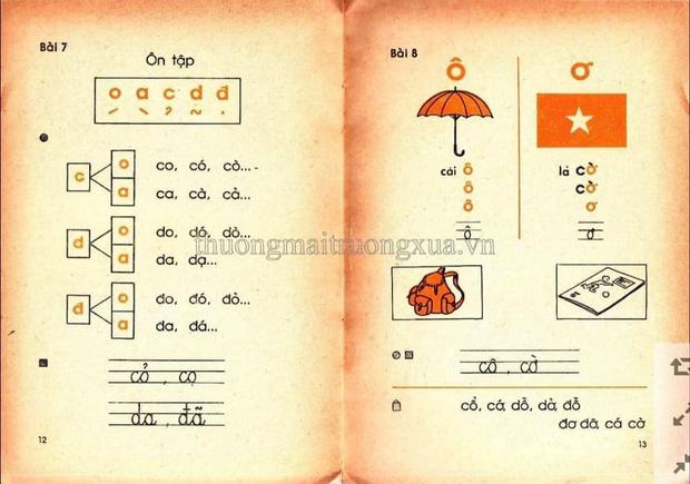 Cả bầu trời tuổi thơ thế hệ 8x, 9x ùa về khi thấy những trang SGK Tiếng Việt 30 năm trước 8