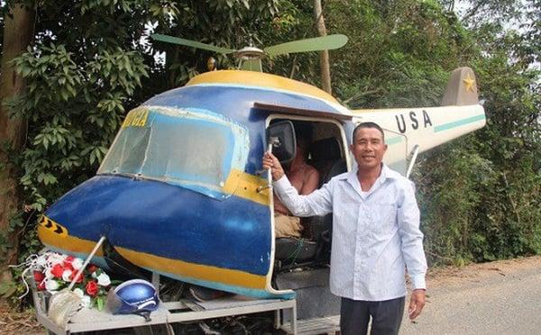Người đàn ông Nghệ An sáng chế 'ô tô bay' bằng 2 xe máy cũ 1
