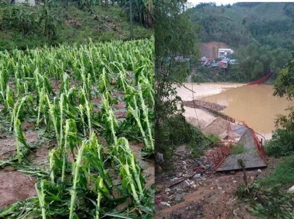 Lào Cai: Giông lốc quật đứt cầu treo, sét đánh khiến 1 người tử vong 4