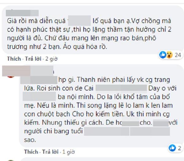 Vợ chồng cô dâu Thu Sao lại nhận 'gạch đá' vì khoe tình cảm lố trên MXH 4