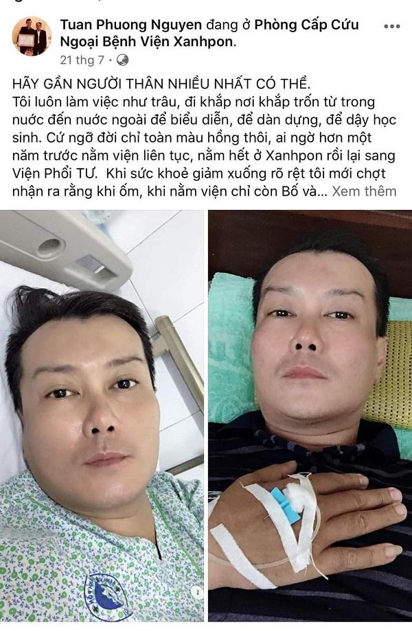 Ca sĩ Tuấn Phương nguy kịch vì mắc bệnh hiểm nghèo 3