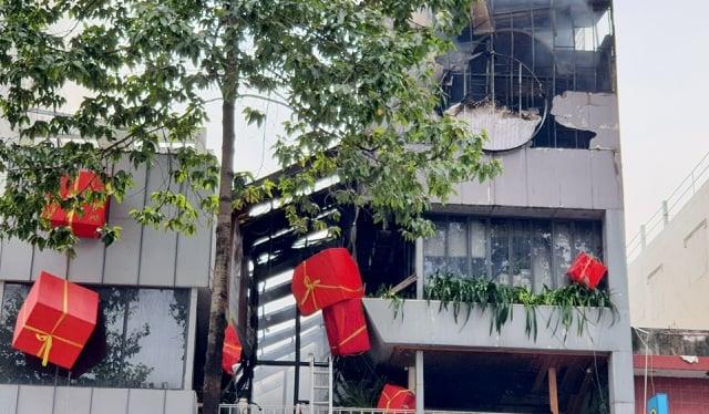 رستوران بوفه آتش نشانی در شهر هوشی مین در اولین روز سال نو 2