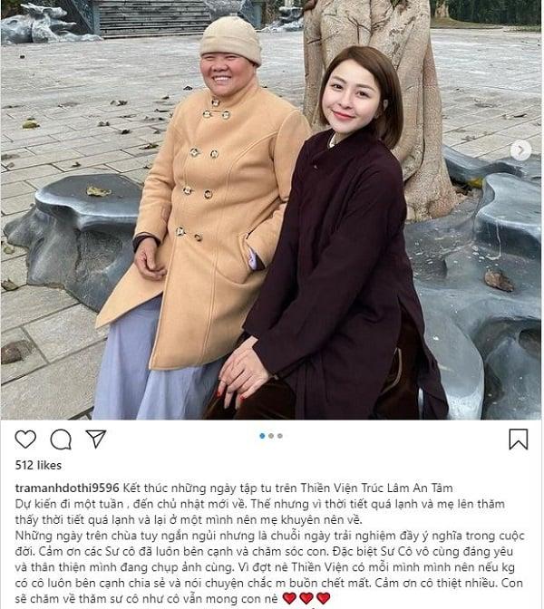اخبار مربوط به ستاره های سرگرمی ویتنامی در شبکه های اجتماعی 24 ساعته: Tram An تصویری از رهبانیت او را نشان می دهد ، Hoang Tui Lin شکل خود را در مقابل آینه نشان می دهد 1