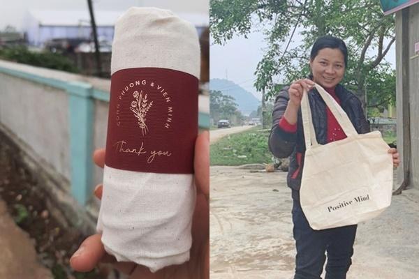 زوج Bui Tien Dung با یادگیری از Cong Phuong هزاران هدیه نیز برای میهمانان آماده کردند 6