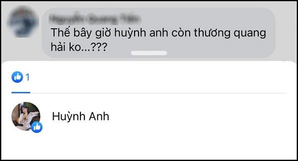 فقط در یک جزئیات ، کاربران شبکه ارتباط عاطفی فعلی بین Huynh Anh و Quang Hai 5 را روشن می کنند.