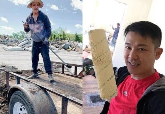 کار بارگیری و تخلیه واقعی که هنرمند فقید وان کوانگ لانگ در آمریکا انجام داد 2